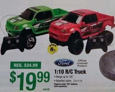 Menards Black Friday: Ford 1:10 R/C Truck for $19.99