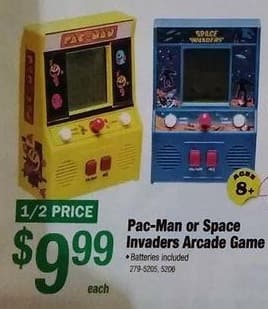 Menards Black Friday: Pac-Man or Space Invaders Arcade Game for $9.99