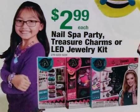 Menards Black Friday: Nail Spa Party, Treasure Charms or LED Jewelry Kit for $2.99