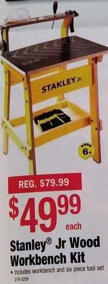 Menards Black Friday: Stanley Jr Wood Workbench Kit for $49.99
