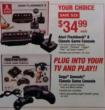 Menards Black Friday: Atari Flashback 8 Classic Game Console w/105 Built In Games and Two Controllers for $34.99