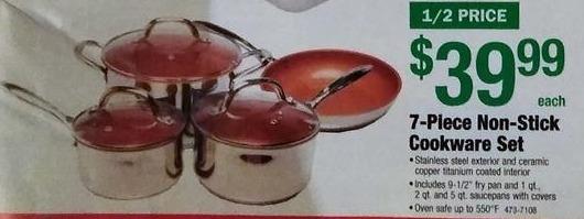 Menards Black Friday: 7-Piece Non-Stick Cookware Set for $39.99