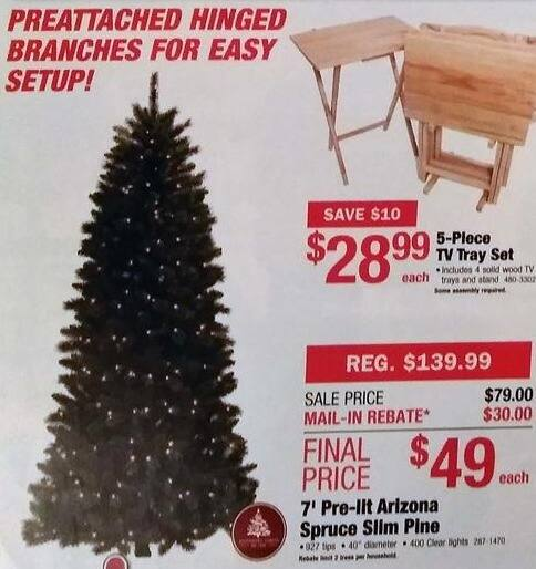Menards Christmas Trees