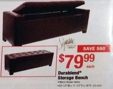Menards Black Friday: Durablend Storage Bench for $79.99