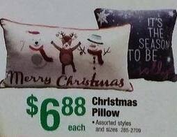 Menards Black Friday: Christmas Pillows, Assorted Styles and Sizes for $6.88