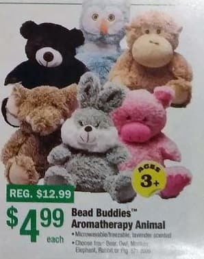 Menards Black Friday: Bead Buddies Aromatherapy Animal for $4.99