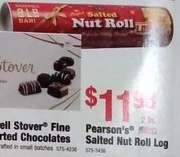 Menards Black Friday: Pearson's 2 lb Salted Nut Roll Log for $11.99