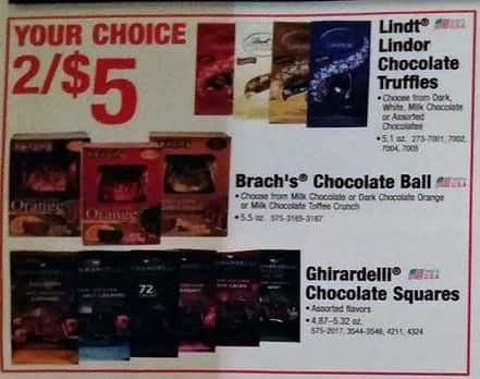 Menards Black Friday: (2) Brach's 5.5 oz Chocolate Ball or Ghirardelli Chocolate Square 4.87 - 5.32 oz for $5.00