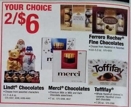 Menards Black Friday: (2) Lindt Chocolates, Assorted Varieties, 1.7 - 4.4 oz for $6.00