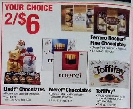 Menards Black Friday: (2) Ferrero Rocher Fine Chocloates, Assorted Varieties, 4.6-5.3 oz for $6.00