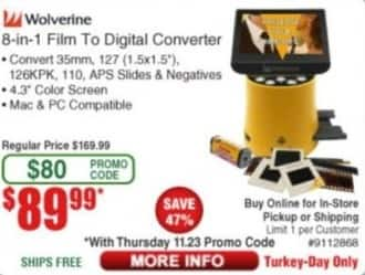Frys Black Friday: Wolverine 8-In-1 Film To Digital Converter for $89.99