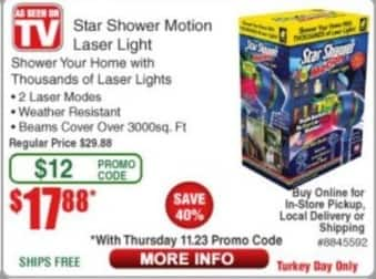 Frys Black Friday: Star Motioni Laser Light for $17.88