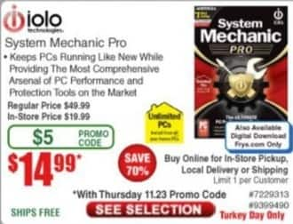 Frys Black Friday: iOLO System Mechanic Pro for $4.99