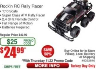 Frys Black Friday: Rock'n RC Rally Racer for $24.99