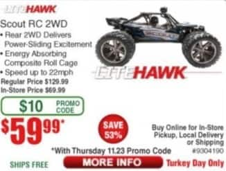 Frys Black Friday: LiteHawk Scout RC 2WD for $59.99
