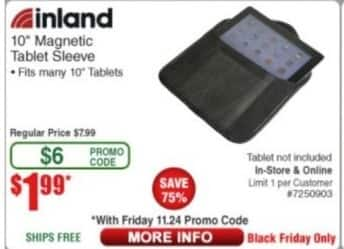 """Frys Black Friday: Inland 10"""" Magnetic Tablet Sleeve for $1.99"""