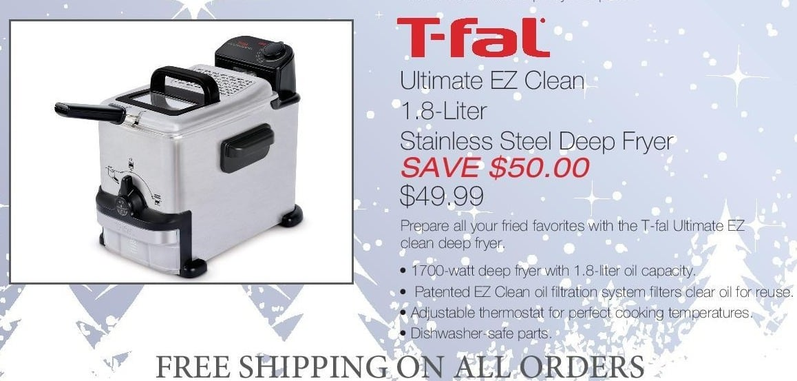 Home & Cook Outlet Black Friday: T-Fal Ultimate EZ Clean 1.8 Liter Stainless Steel Deep Fryer for $49.99