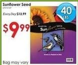 Rural King Black Friday: Black Oil Sunflower Seed, 40 lbs for $9.99