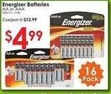 Rural King Black Friday: Energizer AA or AAA Alkaline Batteries 16 pk for $4.99