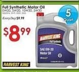 Rural King Black Friday: Full Synthetic Motor Oil 5 qt Select Varieties for $8.99