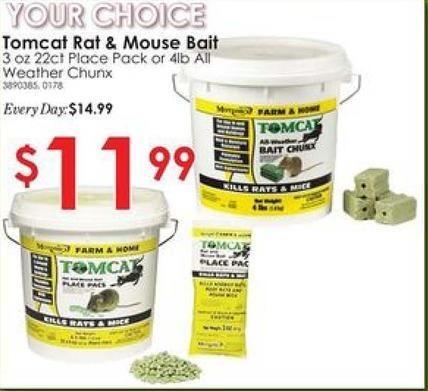 Rural King Black Friday: Tomcat Rat & Mouse Bait, Select Varieties for $11.99