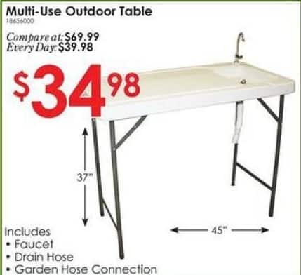 Rural King Black Friday: Multi Use Outdoor Table w/Faucet and Hose for $34.98