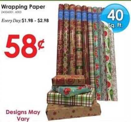 Rural King Black Friday: Wrapping Paper, 40 ft for $0.58