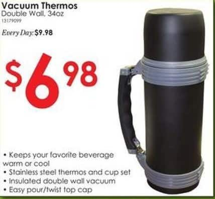 Rural King Black Friday: Vacuum Thermos 34 oz Double Wall for $6.98