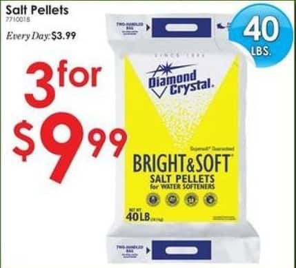 Rural King Black Friday: (3) Diamond Crystal Salt Pellets 40 lbs for $9.99
