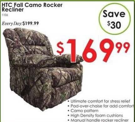 Rural King Black Friday: HTC Fall Camo Rocker Recliner for $169.99