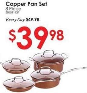 Rural King Black Friday: 8-pc Copper Pan Set for $39.98