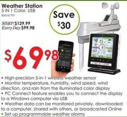 Rural King Black Friday: 5-in-1 Weather Station for $69.98