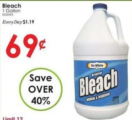 Rural King Black Friday: Bleach, 1 Gallon for $0.69