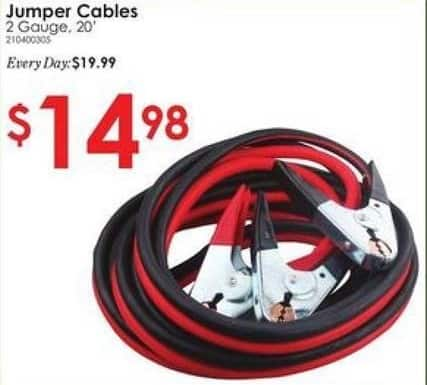 "Rural King Black Friday: Jumper Cables 2-gauge 20"" for $14.98"