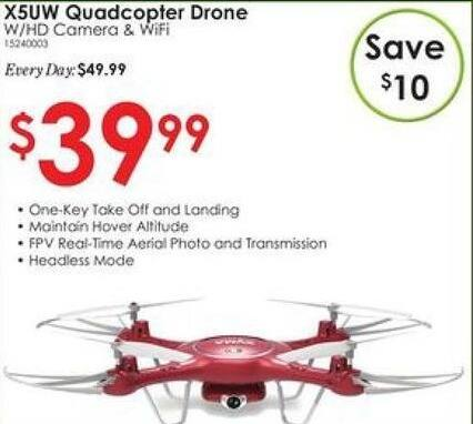 Rural King Black Friday: Syma X5UW Quadcopter Drone for $39.99