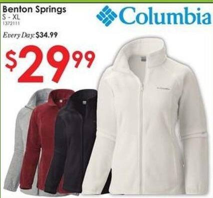 Rural King Black Friday: Columbia Benton Springs Women's Jacket for $29.99