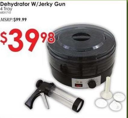 Rural King Black Friday: Dehydrator w/Jerky Gun, 4 Tray for $39.98