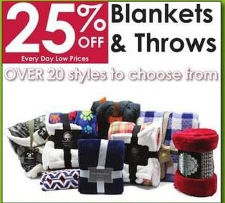 Rural King Black Friday: Select Blankets and Throws - 25% Off