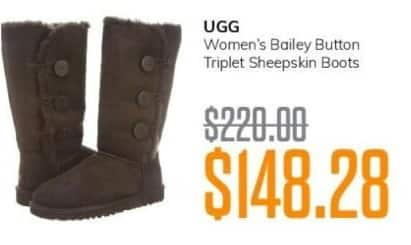 MassGenie Black Friday: UGG Women's Bailey Button Boots for $148.28
