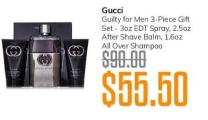 MassGenie Black Friday: Gucci Guilty for Men 3-pc Gift Set for $55.50
