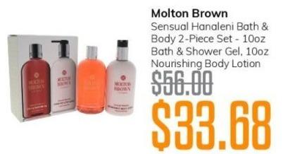 MassGenie Black Friday: Molton Brown Sensual Hanaleni Bath & Body 2-pc Set for $33.68