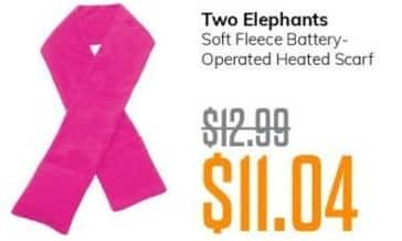 MassGenie Black Friday: Two Elephants Soft Fleece Battery-Operated Heated Scarf for $11.04