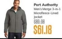 MassGenie Black Friday: Port Authority Men's Merge 3-in-1 Microfleece lined Jacket for $61.18