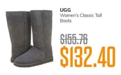 MassGenie Black Friday: Ugg Women's Classic Tall Boots for $132.40