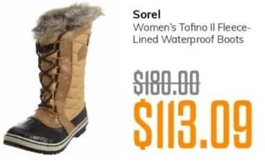 MassGenie Black Friday: Sorel Women's Tofino II Fleece-Lined Waterproof Boots for $113.09
