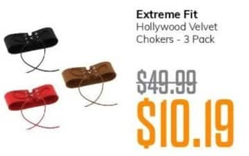MassGenie Black Friday: Extreme Fit Hollywood Velvet Chokers 3-pack for $10.19