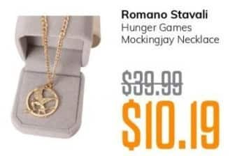MassGenie Black Friday: Romana Stavali Hunger Games Mockingjay Necklace for $10.19