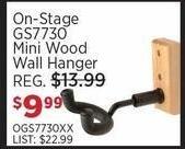 Sam Ash Black Friday: On-Stage GS7730 Mini Wood Hanger for $9.99