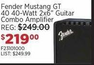 """Sam Ash Black Friday: Fender Mustang GT 40, 40-Watt 2x6"""" Guitar Combo Amplifier for $219.00"""