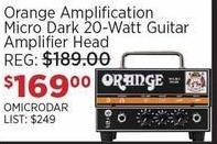 Sam Ash Black Friday: Orange Amplification Micro Dark 20-Watt Guitar Amplifier Head for $169.00